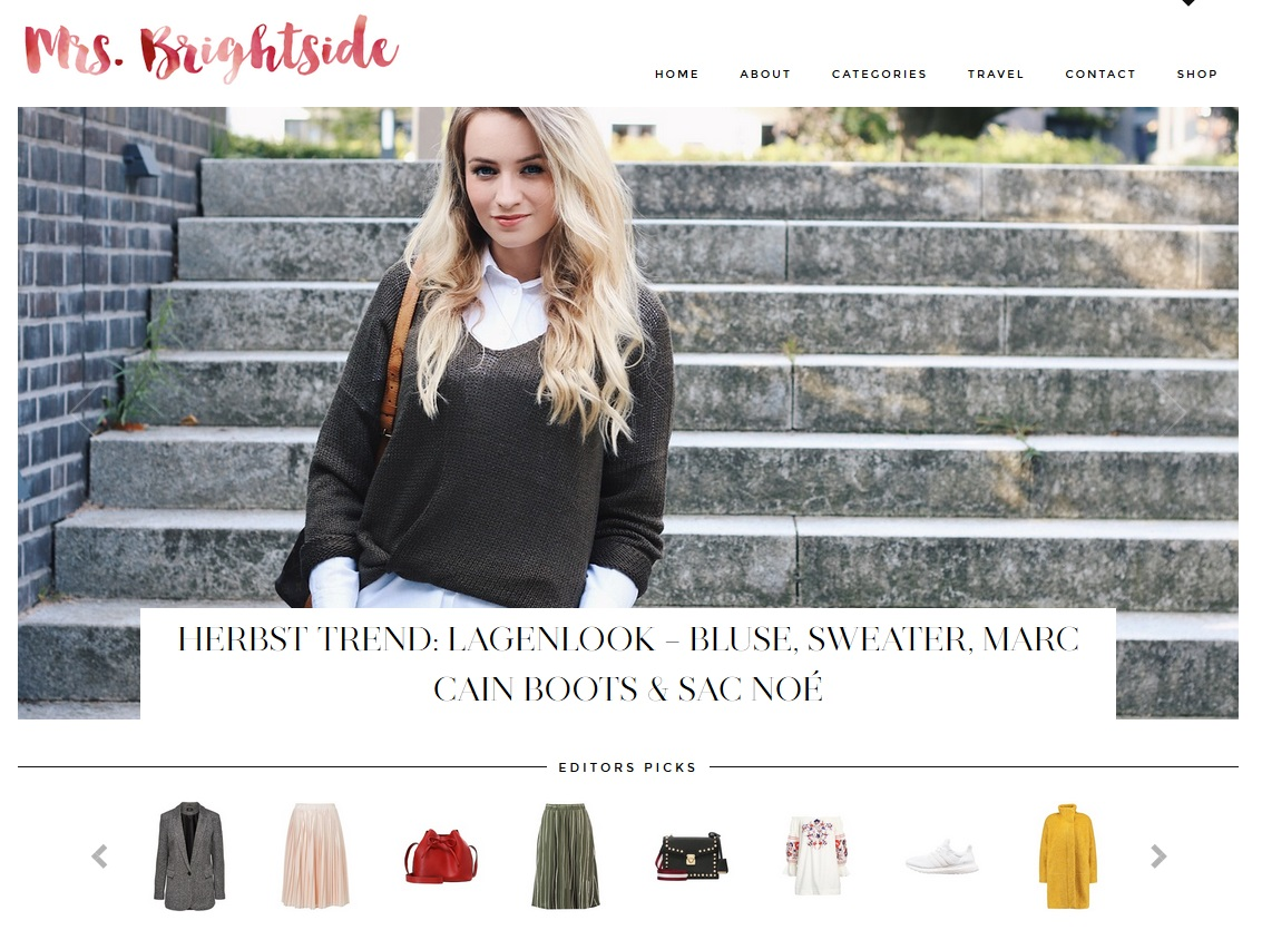 mrsbrightside Homepage Gallery Widget